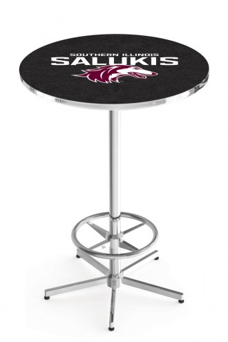 Southern Illinois Salukis Chrome Bar Table with Foot Ring