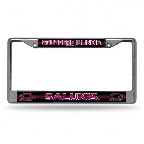 Southern Illinois Salukis Chrome Glitter License Plate Frame