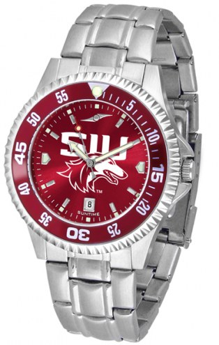 Southern Illinois Salukis Competitor Steel AnoChrome Color Bezel Men's Watch