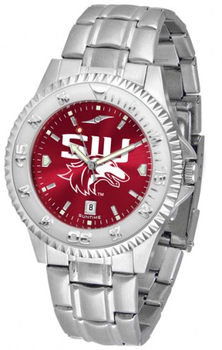 Southern Illinois Salukis Competitor Steel AnoChrome Men's Watch