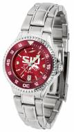 Southern Illinois Salukis Competitor Steel AnoChrome Women's Watch - Color Bezel
