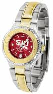 Southern Illinois Salukis Competitor Two-Tone AnoChrome Women's Watch