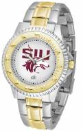 Southern Illinois Salukis Competitor Two-Tone Men's Watch