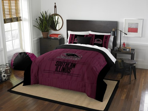 Southern Illinois Salukis Modern Take Full/Queen Comforter Set