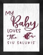 Southern Illinois Salukis My Baby Loves Framed Print