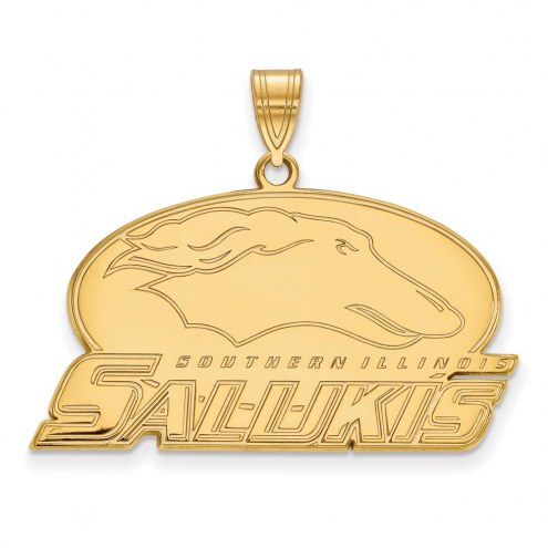Southern Illinois Salukis NCAA Sterling Silver Gold Plated Large Pendant