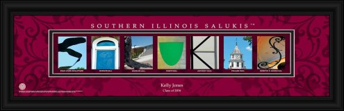 Southern Illinois Salukis Personalized Campus Letter Art