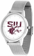 Southern Illinois Salukis Silver Mesh Statement Watch