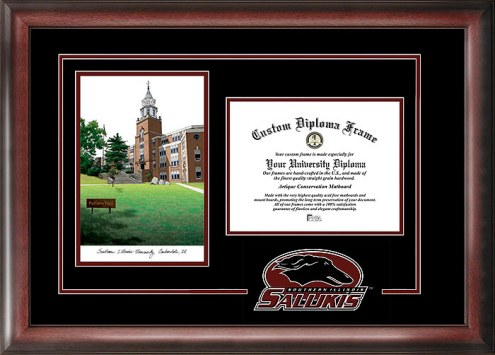 Southern Illinois Salukis Spirit Diploma Frame with Campus Image
