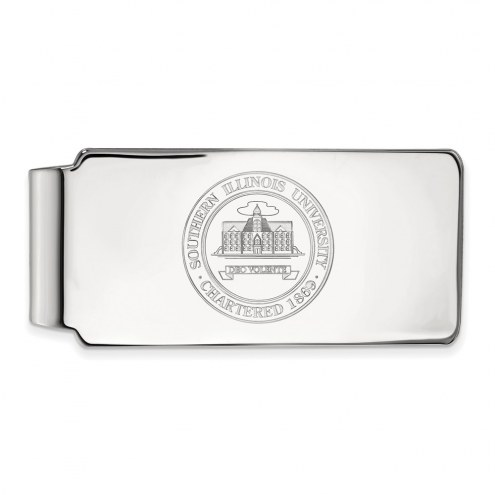 Southern Illinois Salukis Sterling Silver Crest Money Clip