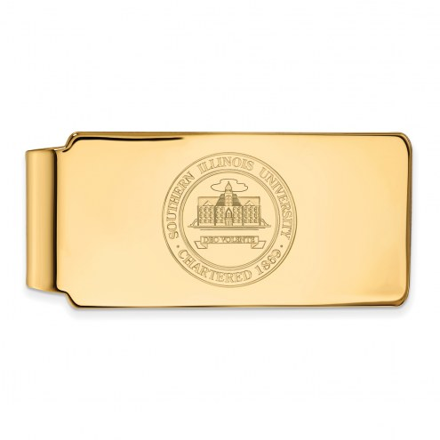 Southern Illinois Salukis Sterling Silver Gold Plated Crest Money Clip