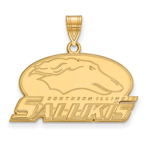 Southern Illinois Salukis Sterling Silver Gold Plated Medium Pendant