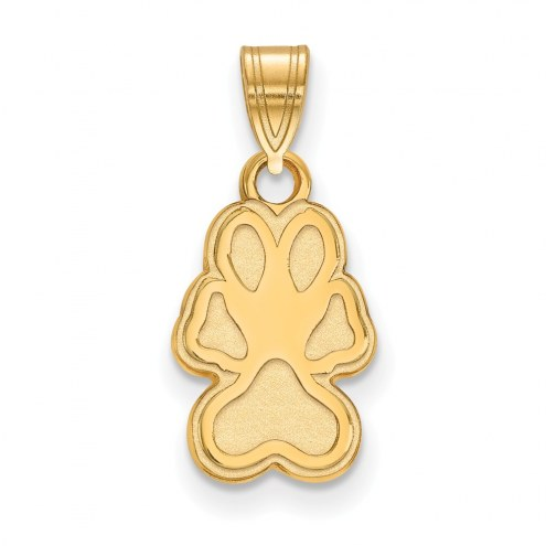 Southern Illinois Salukis Sterling Silver Gold Plated Small Pendant
