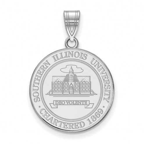 Southern Illinois Salukis Sterling Silver Large Crest Pendant