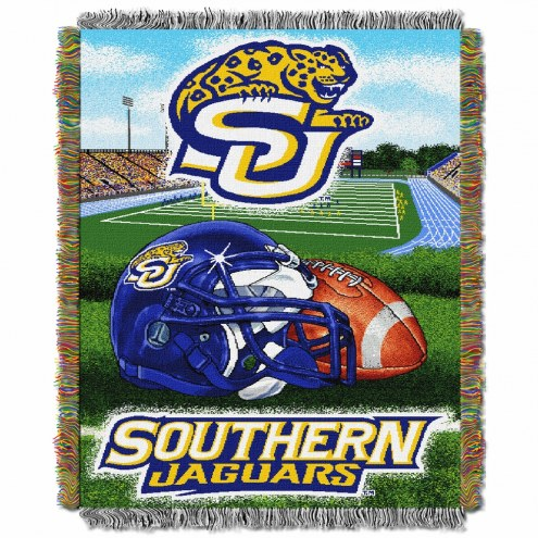 Southern Jaguars Home Field Advantage Throw Blanket