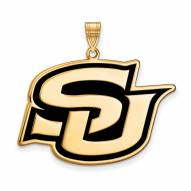 Southern Jaguars Sterling Silver Gold Plated Extra Large Pendant
