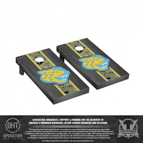 Southern Jaguars Operation Hat Trick Stained Cornhole Game Set