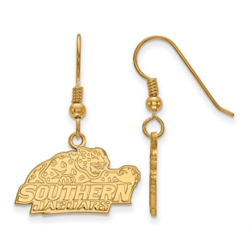 Southern Jaguars Sterling Silver Gold Plated Small Dangle Earrings