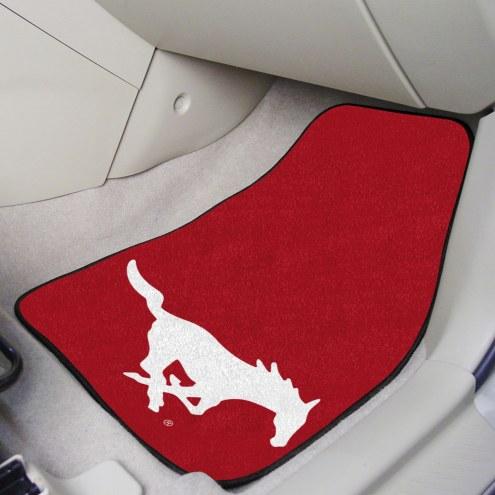 Southern Methodist Mustangs 2-Piece Carpet Car Mats