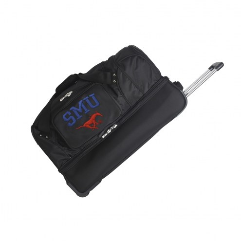 "Southern Methodist Mustangs 27"" Drop Bottom Wheeled Duffle Bag"