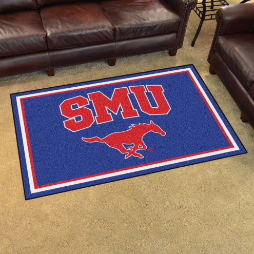 Southern Methodist Mustangs 4' x 6' Area Rug