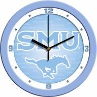 Southern Methodist Mustangs Baby Blue Wall Clock
