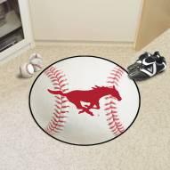 Southern Methodist Mustangs Baseball Rug