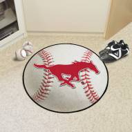 Southern Methodist Mustangs Baseball Rug