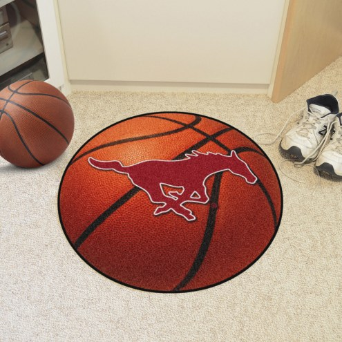 Southern Methodist Mustangs Basketball Mat