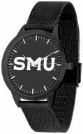 Southern Methodist Mustangs Black Dial Mesh Statement Watch