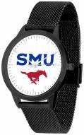 Southern Methodist Mustangs Black Mesh Statement Watch