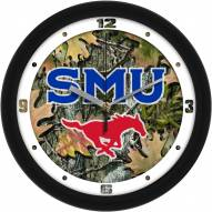 Southern Methodist Mustangs Camo Wall Clock