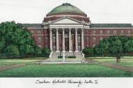 Southern Methodist Mustangs Campus Images Lithograph