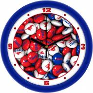 Southern Methodist Mustangs Candy Wall Clock
