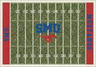Southern Methodist Mustangs College Home Field Area Rug
