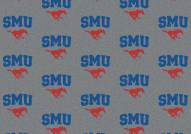 Southern Methodist Mustangs College Repeat Area Rug