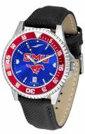 Southern Methodist Mustangs Competitor AnoChrome Men's Watch - Color Bezel