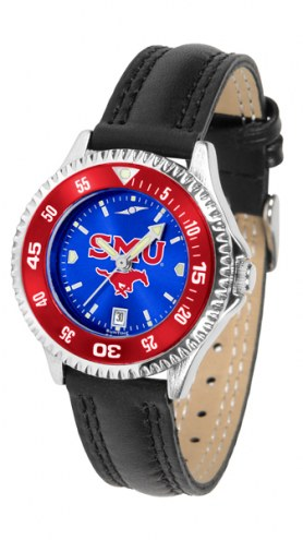 Southern Methodist Mustangs Competitor AnoChrome Women's Watch - Color Bezel