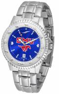 Southern Methodist Mustangs Competitor Steel AnoChrome Men's Watch