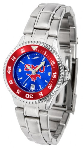 Southern Methodist Mustangs Competitor Steel AnoChrome Women's Watch - Color Bezel