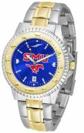 Southern Methodist Mustangs Competitor Two-Tone AnoChrome Men's Watch