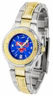 Southern Methodist Mustangs Competitor Two-Tone AnoChrome Women's Watch