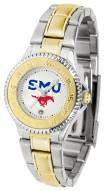 Southern Methodist Mustangs Competitor Two-Tone Women's Watch