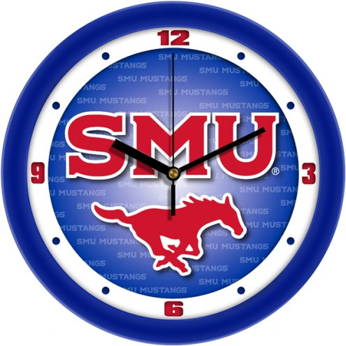 Southern Methodist Mustangs Dimension Wall Clock