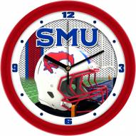 Southern Methodist Mustangs Football Helmet Wall Clock