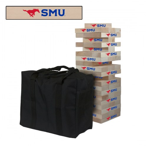 Southern Methodist Mustangs Giant Wooden Tumble Tower Game