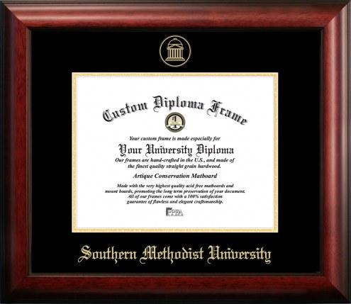 Southern Methodist Mustangs Gold Embossed Diploma Frame