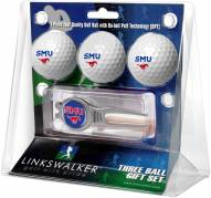 Southern Methodist Mustangs Golf Ball Gift Pack with Kool Tool
