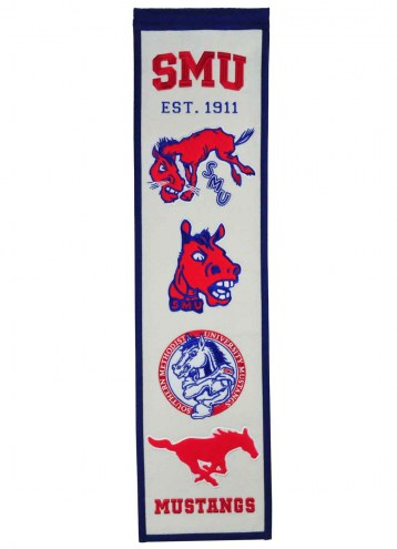 Southern Methodist Mustangs Heritage Banner