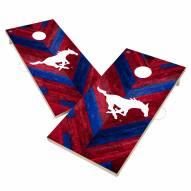 Southern Methodist Mustangs Herringbone Cornhole Game Set
